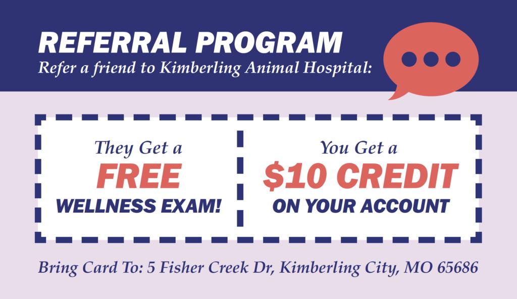 Client Referral Program - Kimberling Animal Hospital